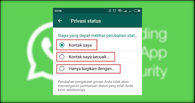 Cara Menyembunyikan Status Whatsapp (WA) Dari Orang Tertentu