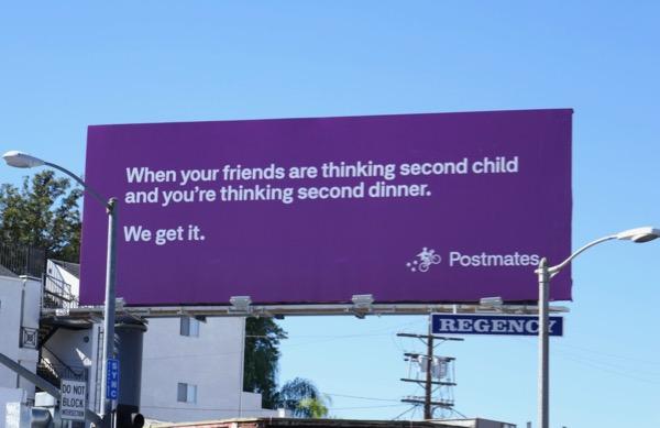 second dinner Postmates billboard