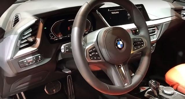 2020-BMW-M235i-xDrive-Gran-Coupe-interior-steering-wheel-dashboard