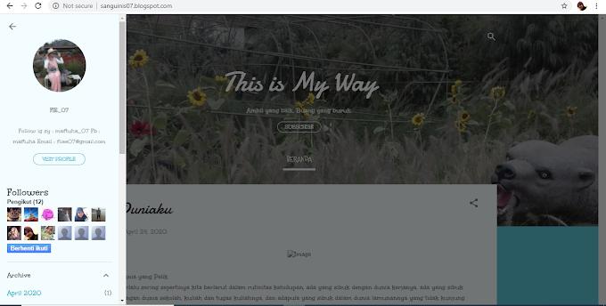 Review Blog Adik Onlineku : Blog Yang Berisikan Motivasi