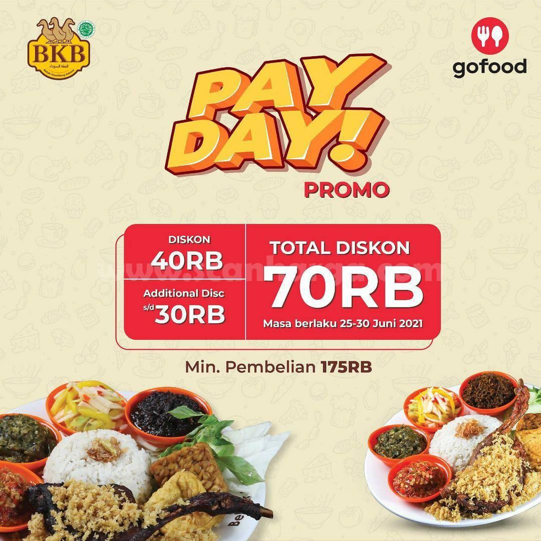 Bebek BKB Promo Payday DISKON Gofood Total Rp .70.000