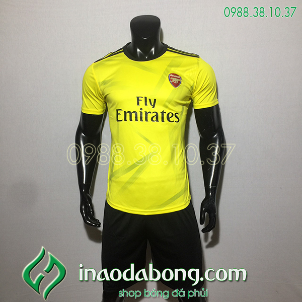 Áo bóng đá câu lạc bộ Arsenal màu vàng 2020
