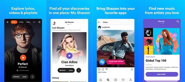Shazam - Aplikasi Streaming Musik Android Gratis