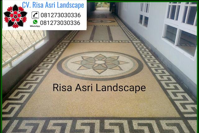 cv. risa asri landscape gambar desain batu sikat lantai carport koral sikat batu alam ampyangan motif desain kembangan