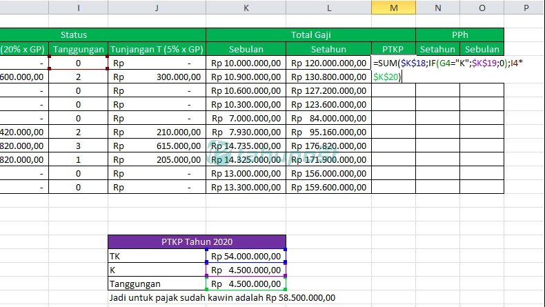 Cara Menghitung Pajak di Excel