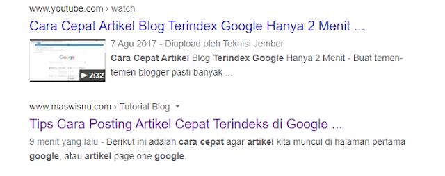 Tips Cara Posting Artikel Cepat Terindeks di Google - Maswisnu.com