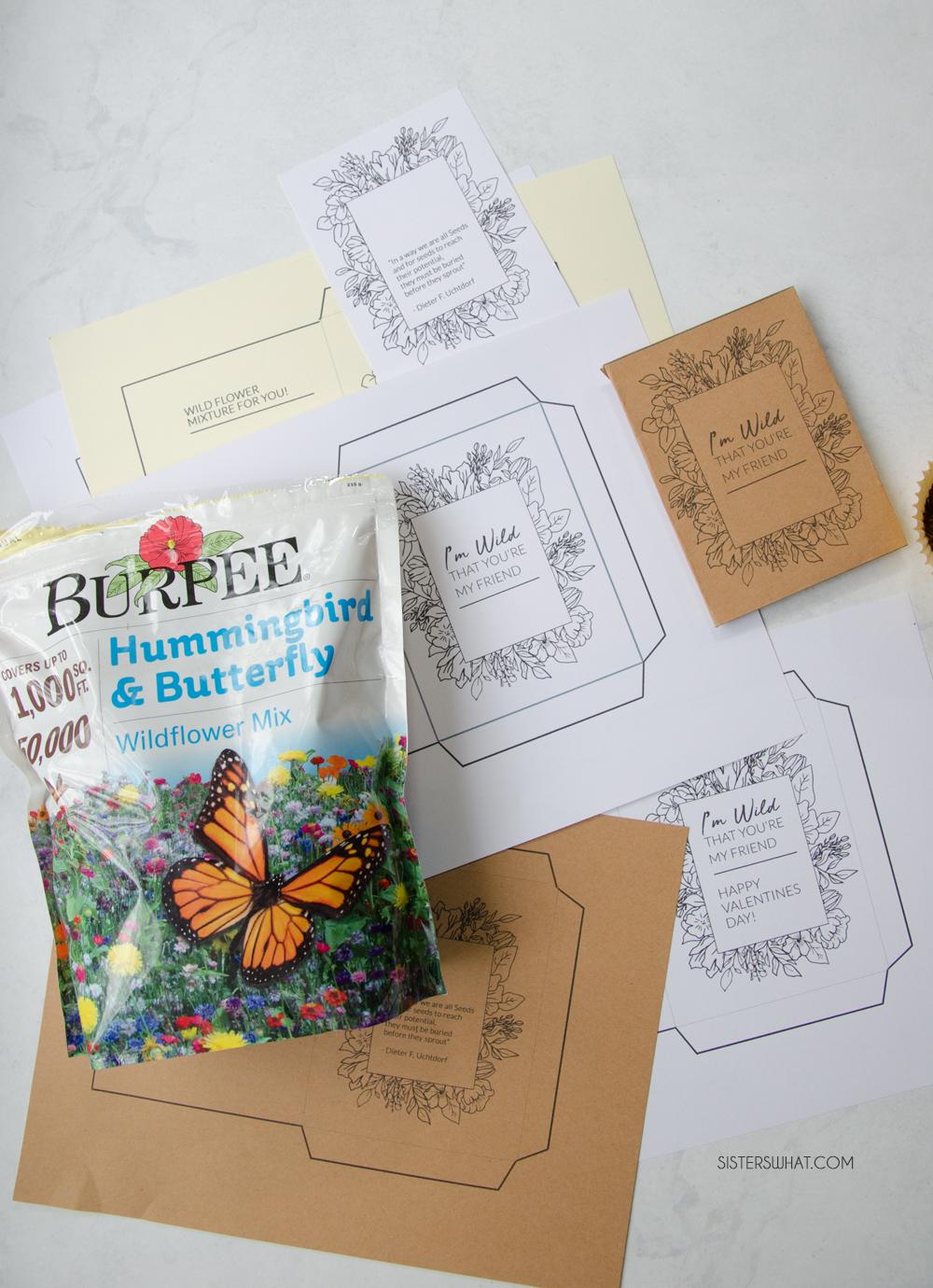 printable wildflower seed packet
