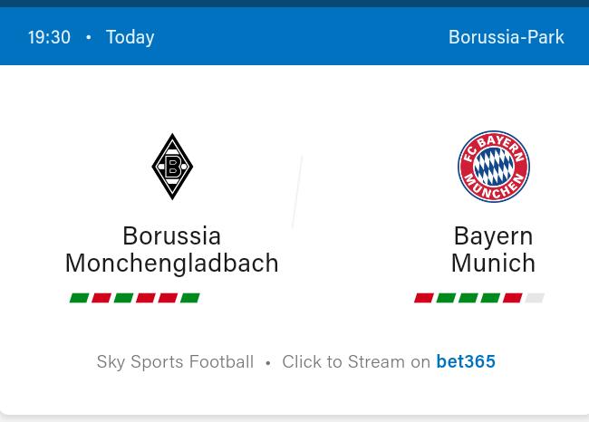 Borussia Monchengladbach vs Bayern Munich Football Preview and Predictions 2021
