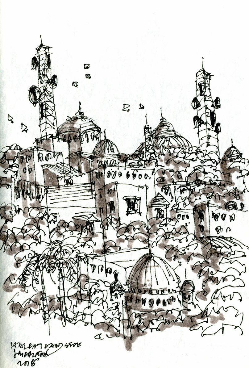 The spires, kites and towers of Lucknow | Urban Sketchers