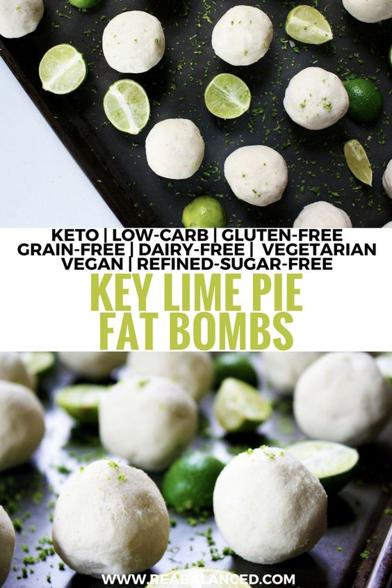 These delicious Key Lime Pie Fat Bombs are full of fresh, citrus flavor and are a great source of nutrient-dense ingredients to keep you full and focused between meals!