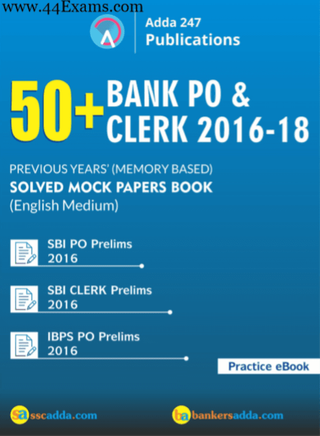 Bank-PO-Clerk-2016-18-Previous-Years-Solved-Mock-Papers-For-Bank-Exam-PDF-Book