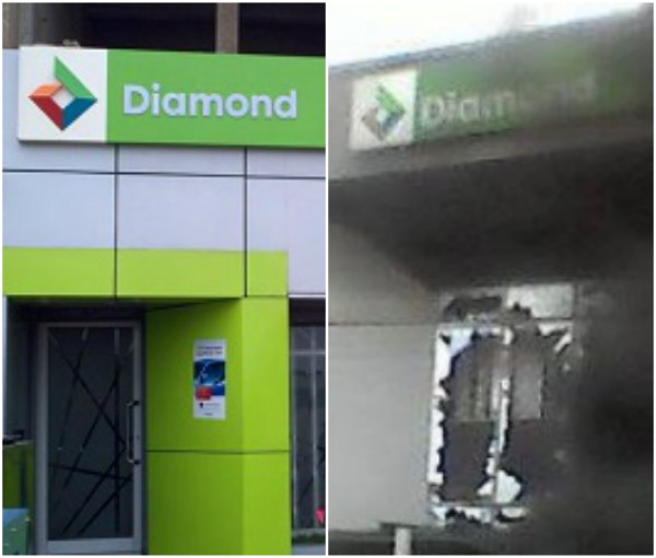 Diamond bank releases official statement, confirms fire incident in Apapa