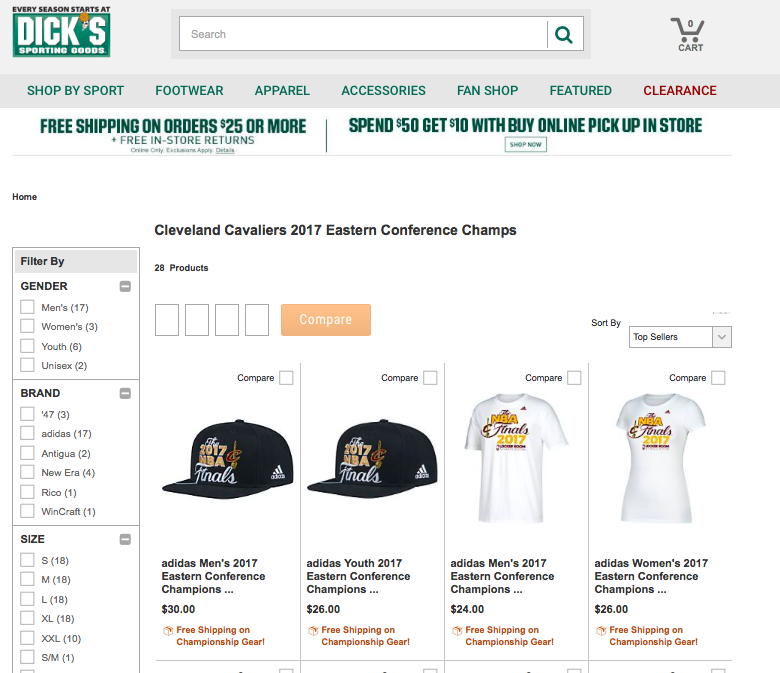 best website 61830 33522 Celtics Life: Dick's premature again, start selling Cavs ECF ...