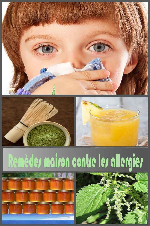 Remèdes maison contre les allergies