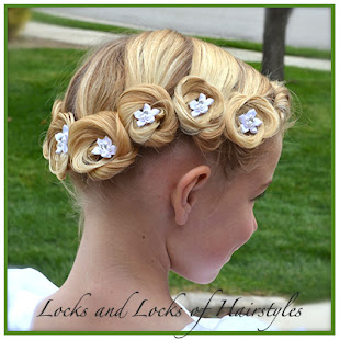Crown of Pin Curls