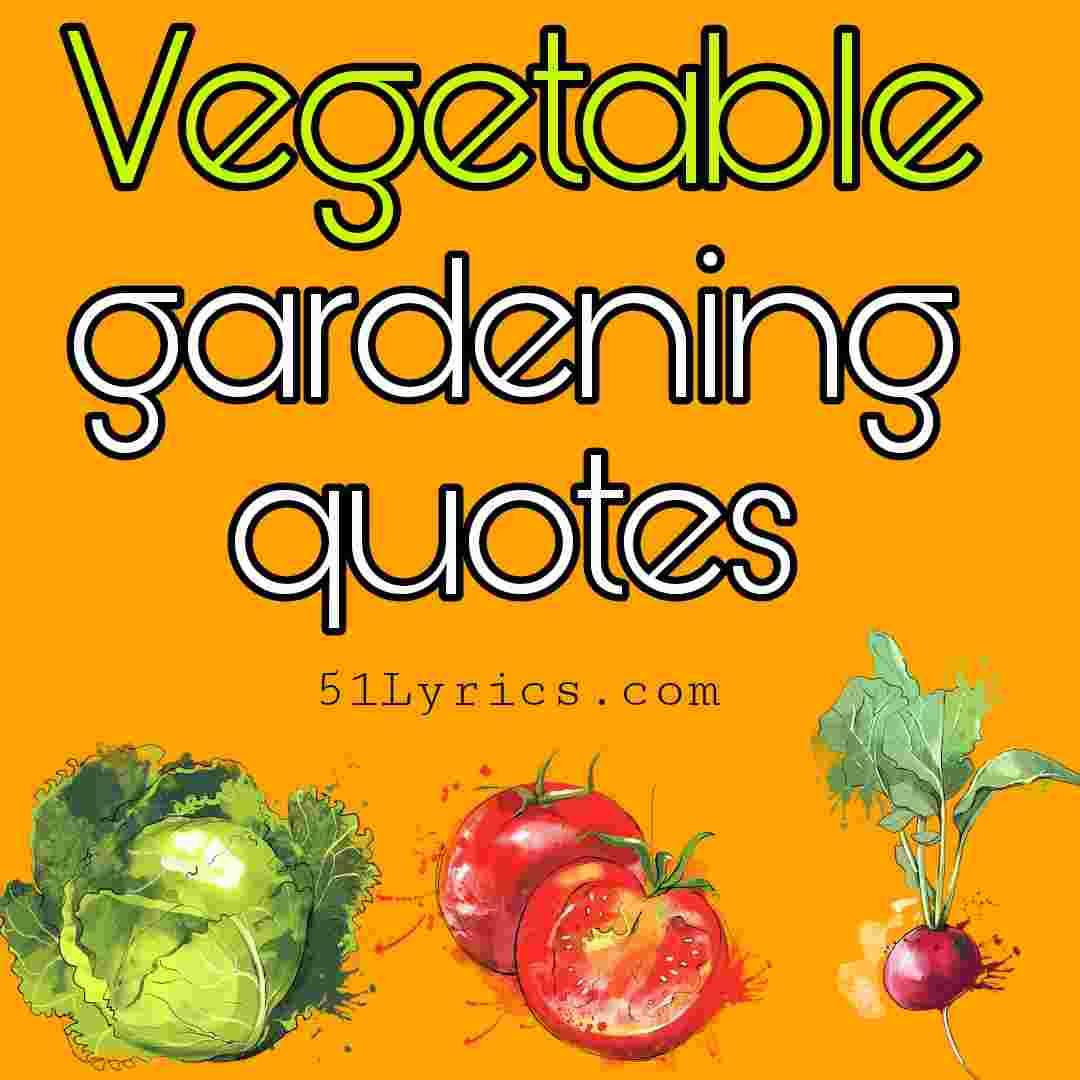 vegetable gardening quotes, gardening sayings, inspirational vegetable gardening quotes
