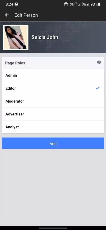 select admin roles