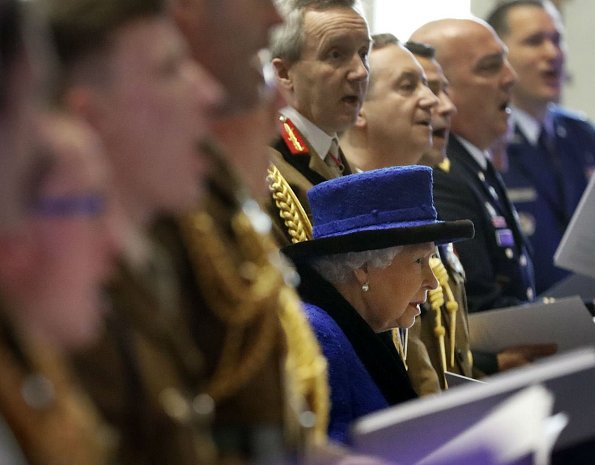 The Queen attended a service to celebrate the centenary of when King George V granted the prefix 'Royal' to the department