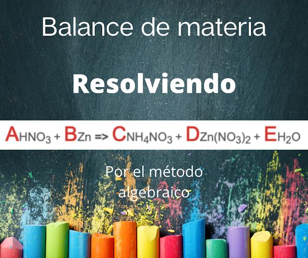 [Solución] M. Algebraico : HNO3 + Zn => NH4NO3 + Zn (NO3)2 + H2O ✅