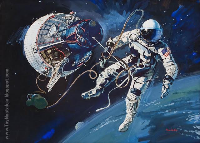 Ilustración de Robert McCall - NASA - Misión GEMINI (ACTION MAN ASTRONAUT  HASBRO-PALITOY)