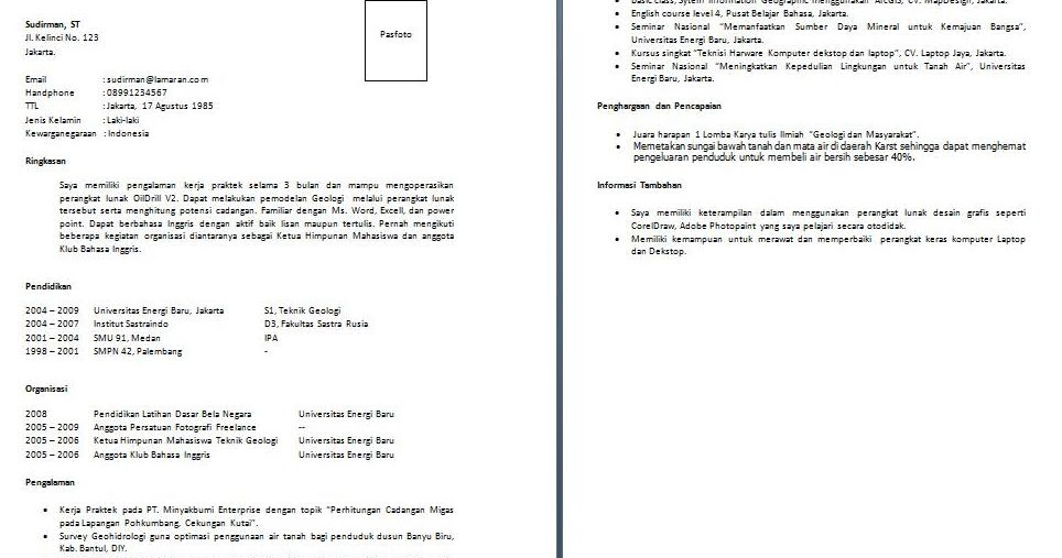Contoh Cover Letter Yang Simple Hontoh