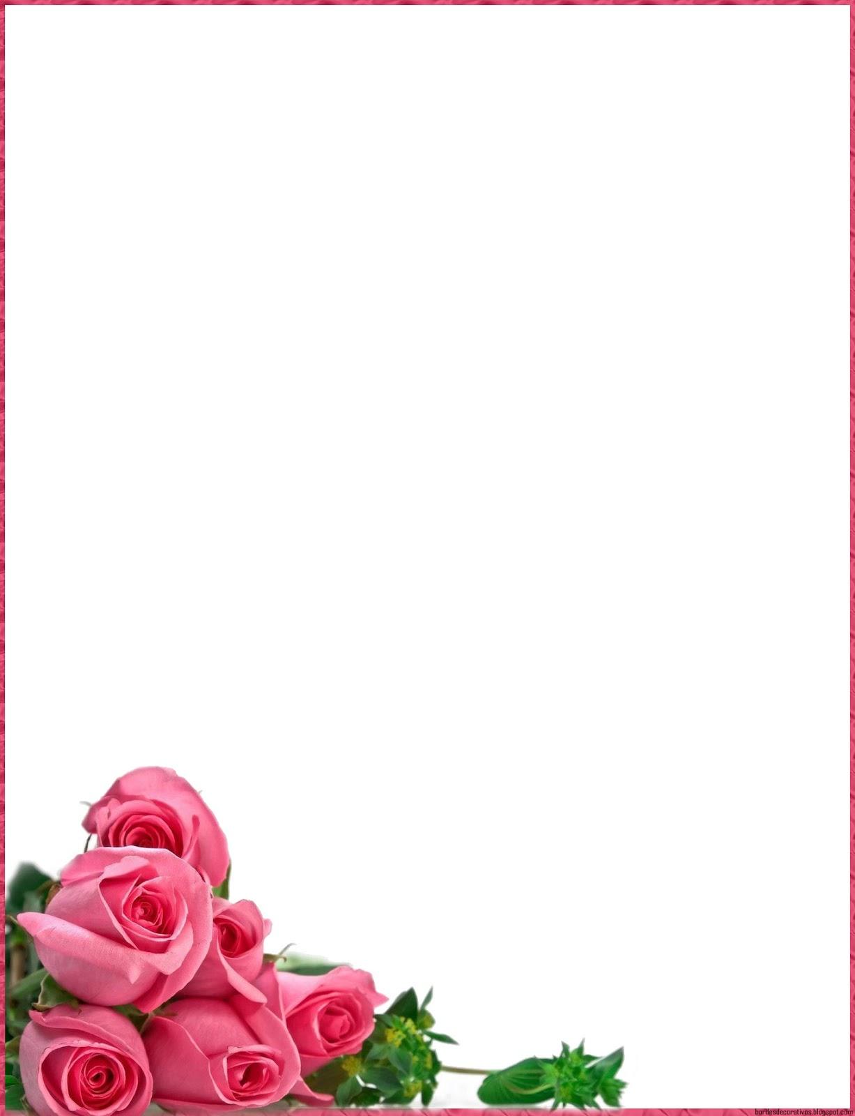 Bordes decorativos bordes decorativos con rosas - Decorativos para navidad ...