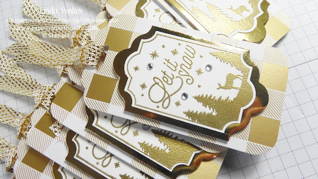 Merry Little Labels, Stampin' Up!, Linda Parker