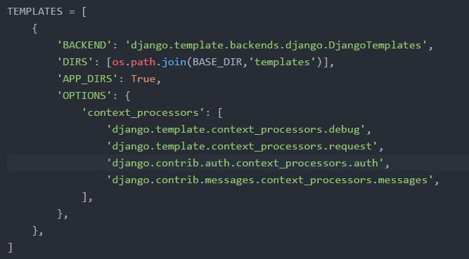 template extending in django