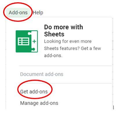 Get add on Google Sheet