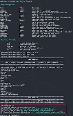 Veil-Framework - Configurar payload y generar binario.