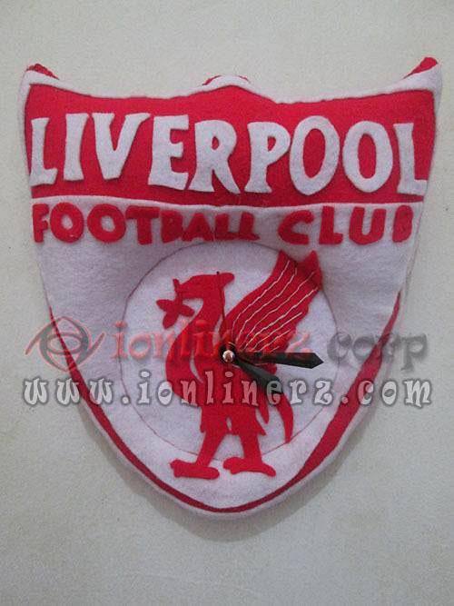 Jam Dinding Flanel Club Sepak Bola Liverpool