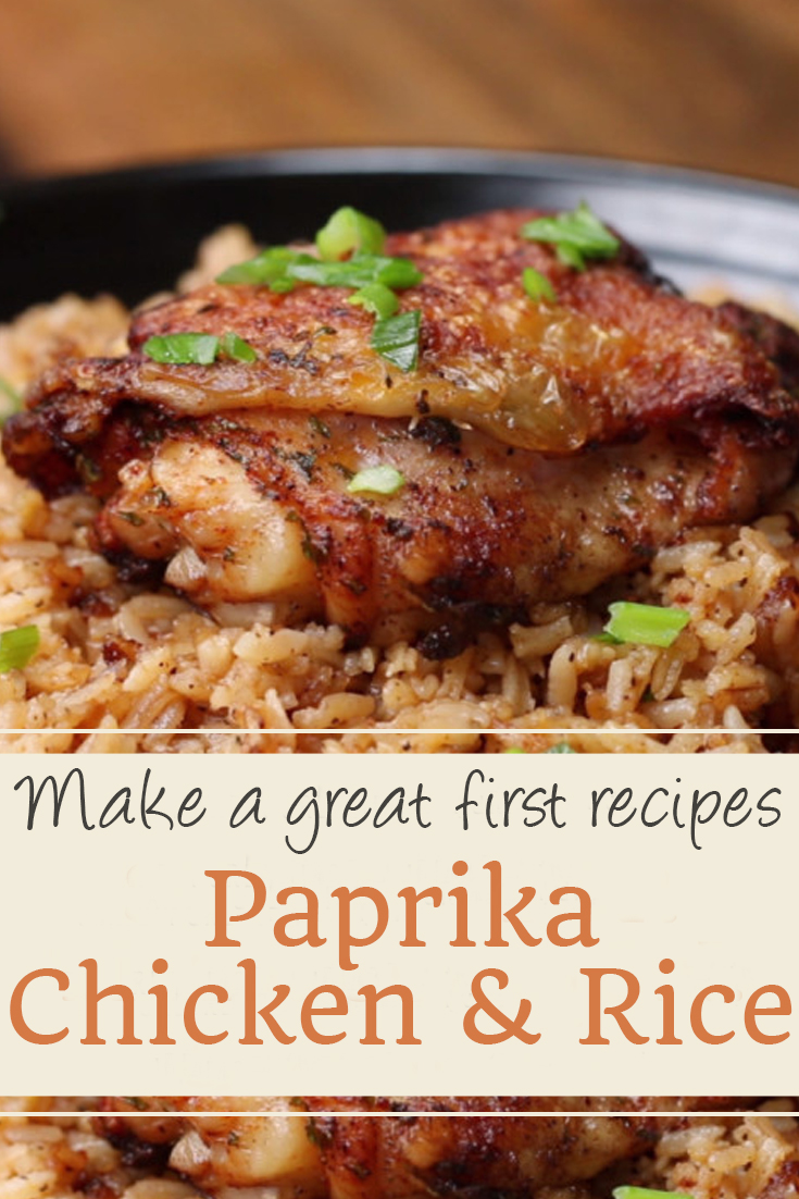 Paprika Chicken & Rice | chicken recipes, crock pot recipes, chicken breast recipes, easy chicken recipes, soup recipes, chili recipe, chicken casserole, slow cooker recipes, chicken salad recipe, meatloaf recipe, chicken thigh recipes, chicken casserole recipes, chicken curry recipe, chicken soup recipe, chicken dishes, baked chicken recipes, baked chicken, healthy chicken recipes, lasagna recipe, chicken recipes for dinner, rice recipes, butter chicken recipe, casserole recipes. #paprika #chicken #rice