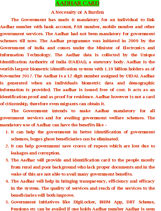 non aadhar bank linkage form