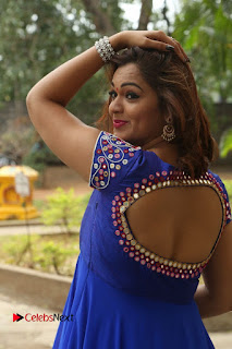 Actress Ashwini Stills in Blue Chudidar at Ameerpet Lo Release Press Meet  0070.JPG