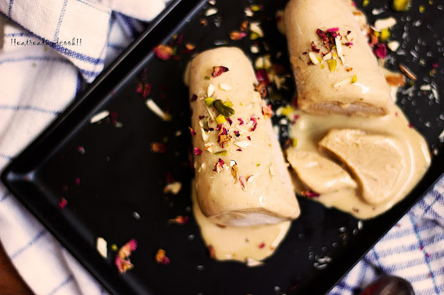 how to make Thandai Kulfi recipe and preparation