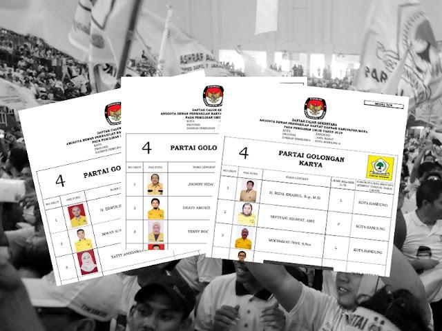 Daftar Calon Sementara Anggota DPRD Kota Bandung Pemilu 2019 dari Partai Golkar