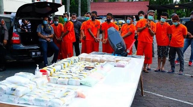 Puluhan Kilogram Sabu dari Malaysia Digagalkan Polda Riau