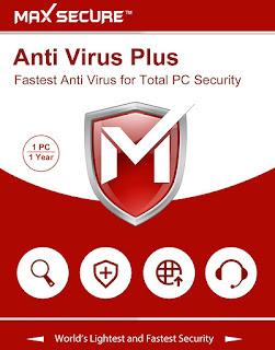 Max Secure Antivirus Plus Version 6 1 Pcs 1 Years