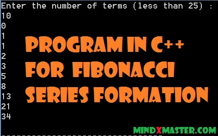 fibonacci sequence c plus