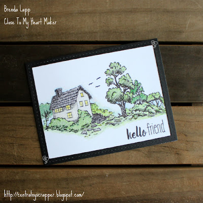card created with Strong Roots and Watercolor Pencils