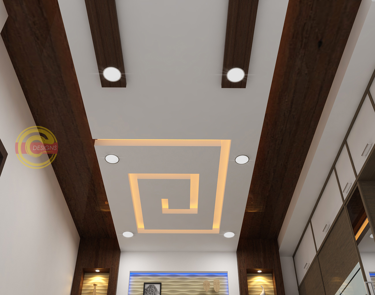3D Concepts: Fall Ceiling Designs Concepts