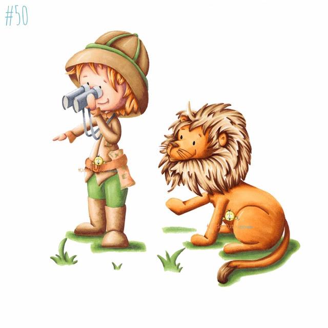 Safari expedition digital stamp