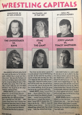 Inside Wrestling  - November 1998 -  Match reports in News from the Wrestling Capitals (2)