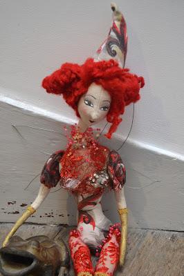 dolls fabric fée rouge cathy Vagnon
