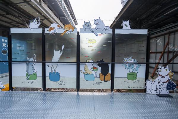 「鐵道躲貓貓」貓小姐插畫特展,上百隻貓咪出現在台中車站