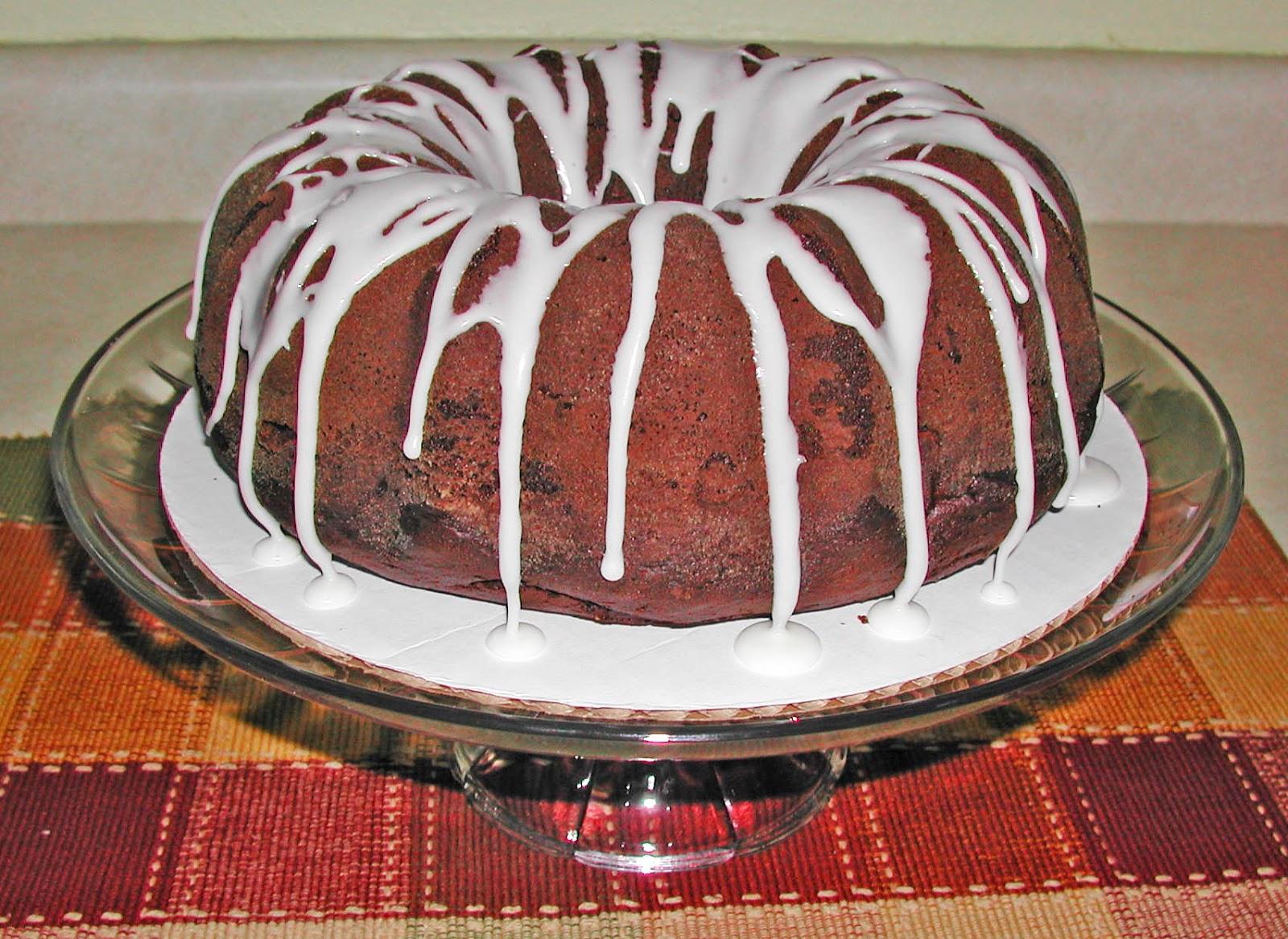 The Iowa Housewife Chocolate Almond Pound Cake