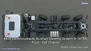 Tatra Phoenix 158 8x8, Truck Canggih Dengan Multi Electrohydraulic Auxiliary Steering System