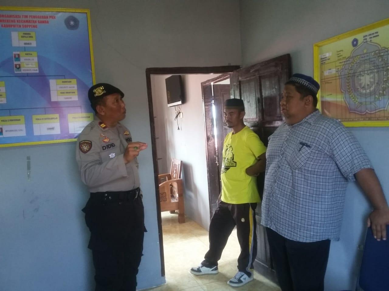 Kapolsek Ganra Pantau Gudang Penyimpanan Logistik Pemilu di PPS