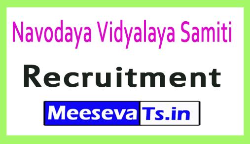 Navodaya Vidyalaya Samiti NVS Recruitment