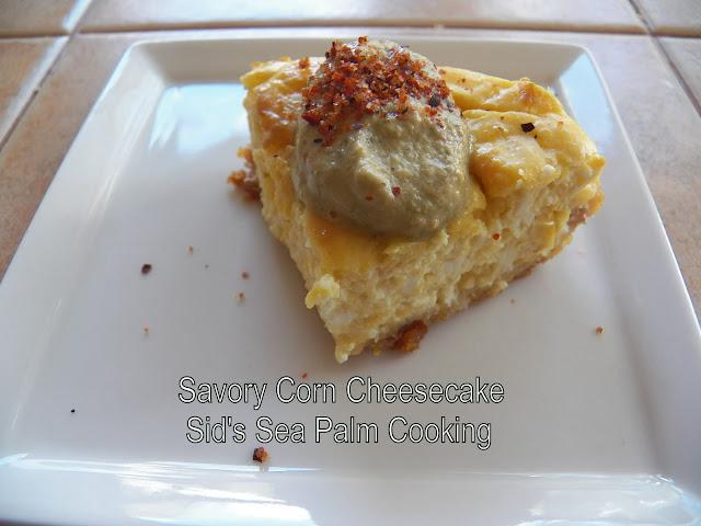 Savory Corn Cheesecake